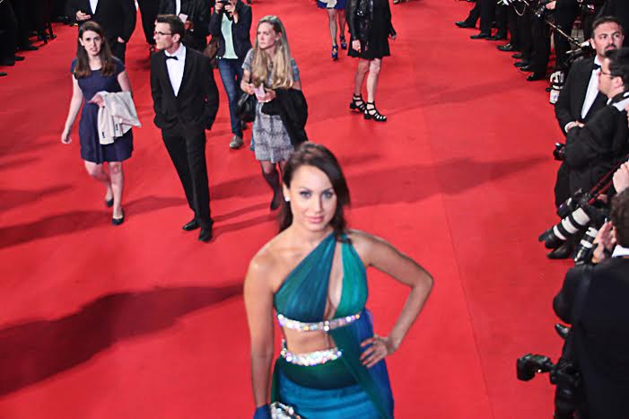 Actress, Miss India UK, Deana Uppal, 67th Cannes Red Carpet