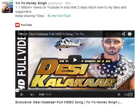 Music Video, Yo Yo Honey Singh, Desi Kalakaar, Sonakshi Sinha, Watch Video
