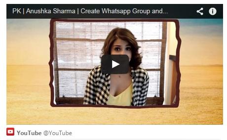 Anushka Sharma, PK, movie, transistor poster, Whatsapp
