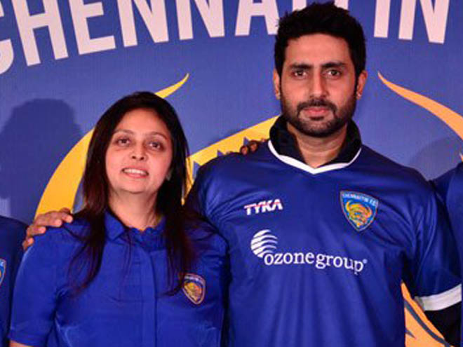 Abhishek Bachchan, Indian Super League, Chennaiyin FC
