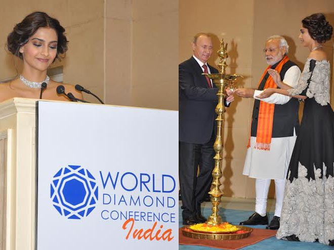 Sonam Kapoor, Gems, Jewellery, World Diamond Conference