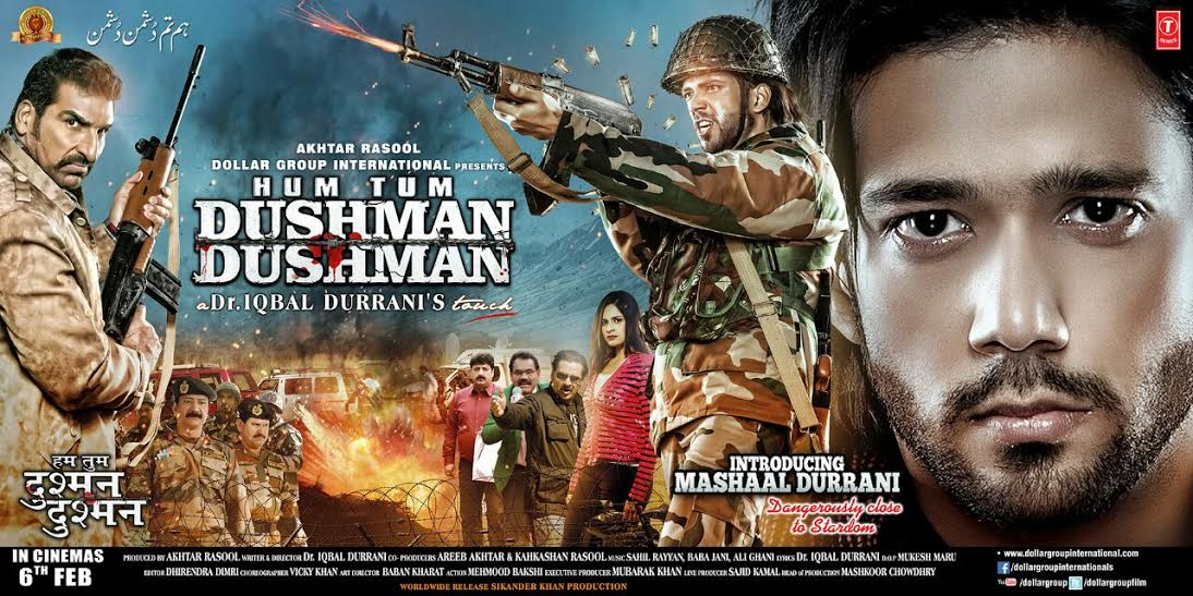 Bollywood film, HUM TUM DUSHMAN DUSHMAN, Indian Solders