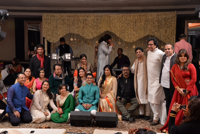 Bollywood Singers, Saurabh, Nasreen Daftary, daughter, Wedding, Reception