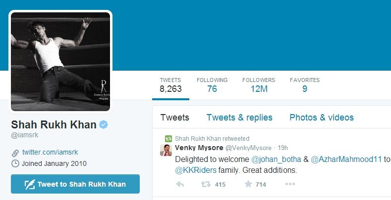Shah Rukh Khan, Aamir Khan, Salman Khan, Twitter