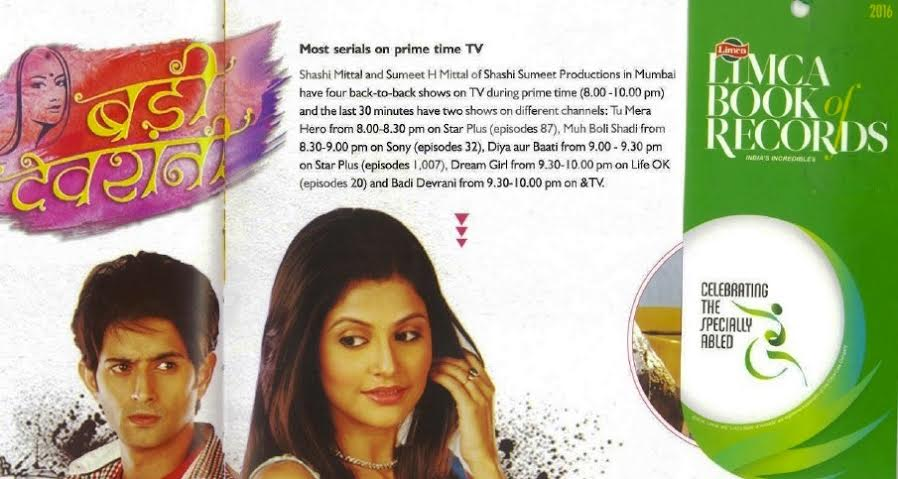 Shashi Sumeet Productions, Limca Book of Records