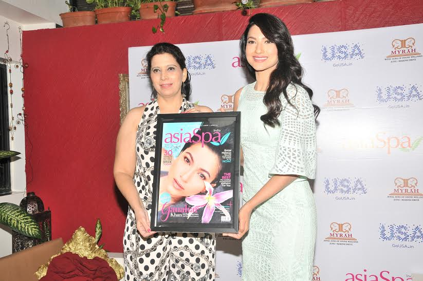 GAUAHAR KHAN, ASIA SPA MAGAZINE
