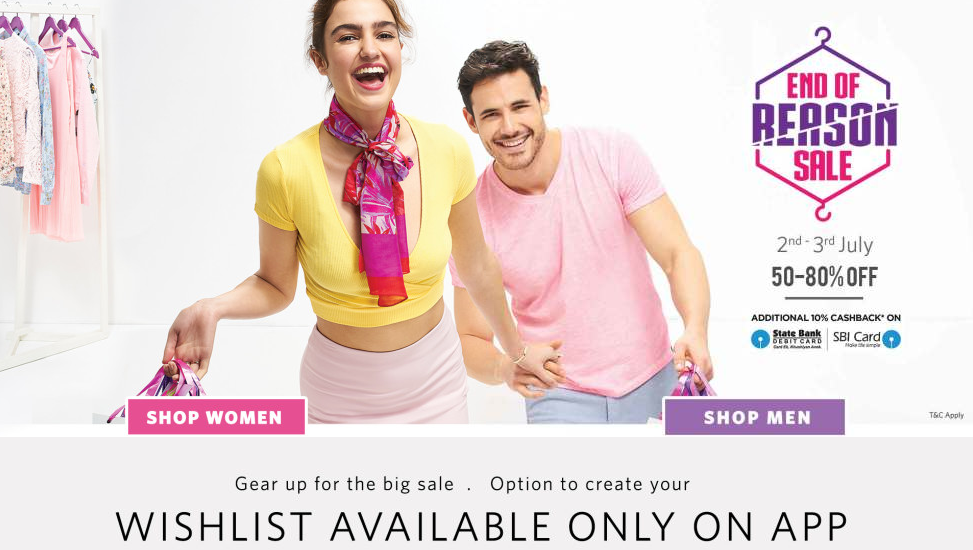 Myntra.com midnight fashion sale starts at 12.00 AM | Start shopping via desktop, mobile app