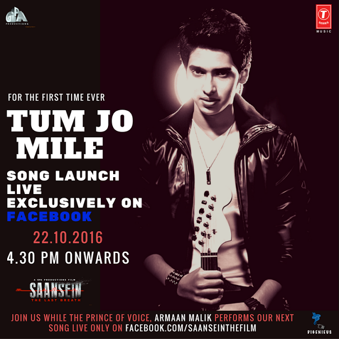 Armaan Malik, perform live, SAANSEIN, song