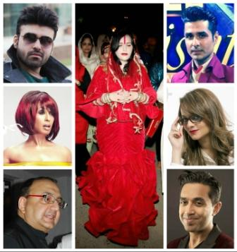 Radhe Maa mermaid dress collage