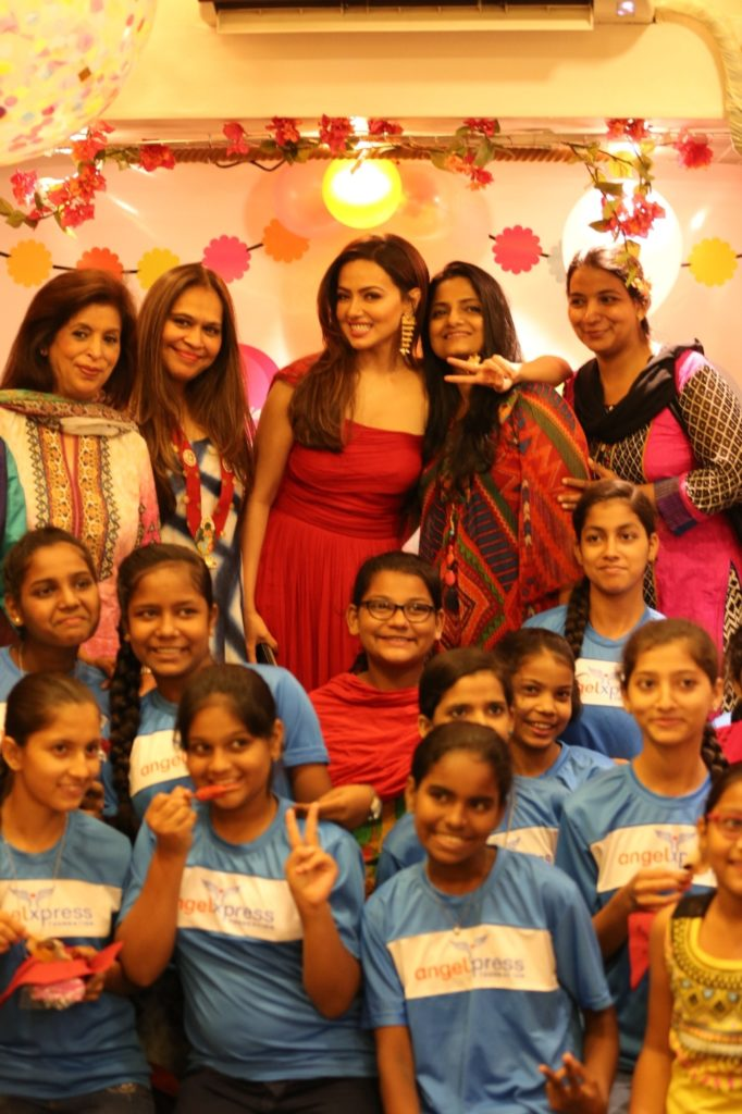 Beenaa Advani Founder of Angel Xpress Foundation Designer Ritu Seksaria Sana Khan Devika Ajwani