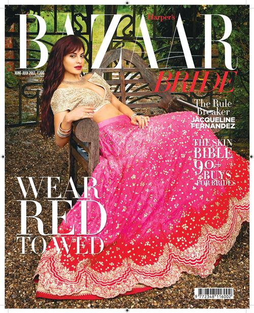 Actress,Jacqueline Fernandez,Anushree Reddy,cover,Harper's Bazaar Bride