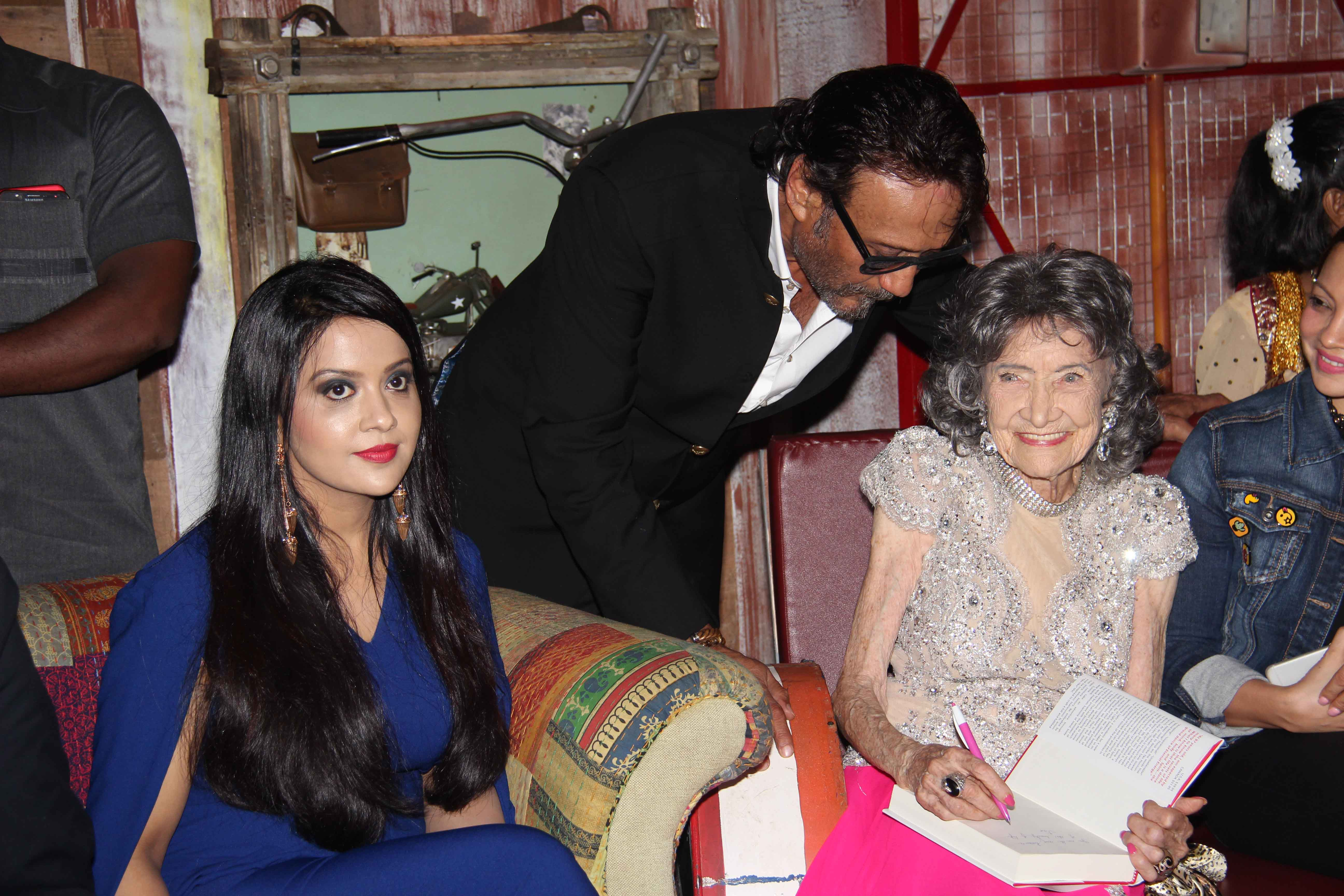 Amruta Phadnavis Jacky Shroff and Tao Porchon Lynch