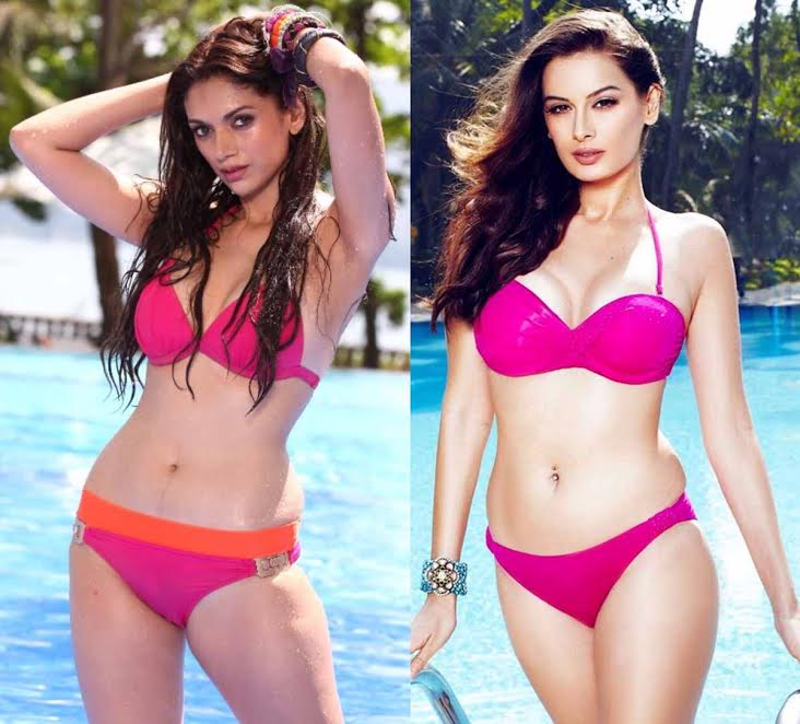 Actress, Evelyn Sharma, Bollywood, pink bikini