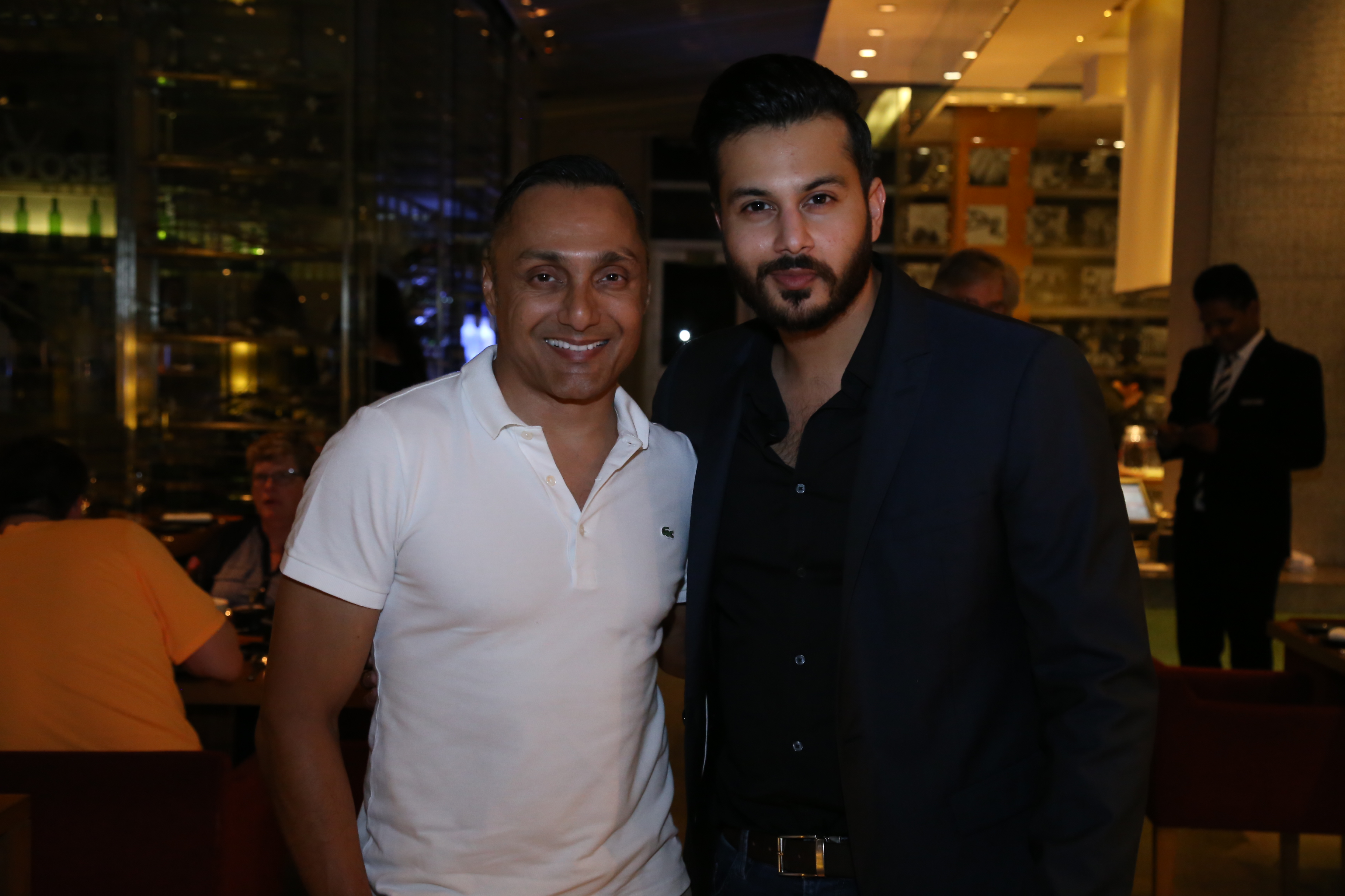 Actor Rahul Bose along with Raaj Sanghvi at the dinner of A Taste of Heaven at Four seasons