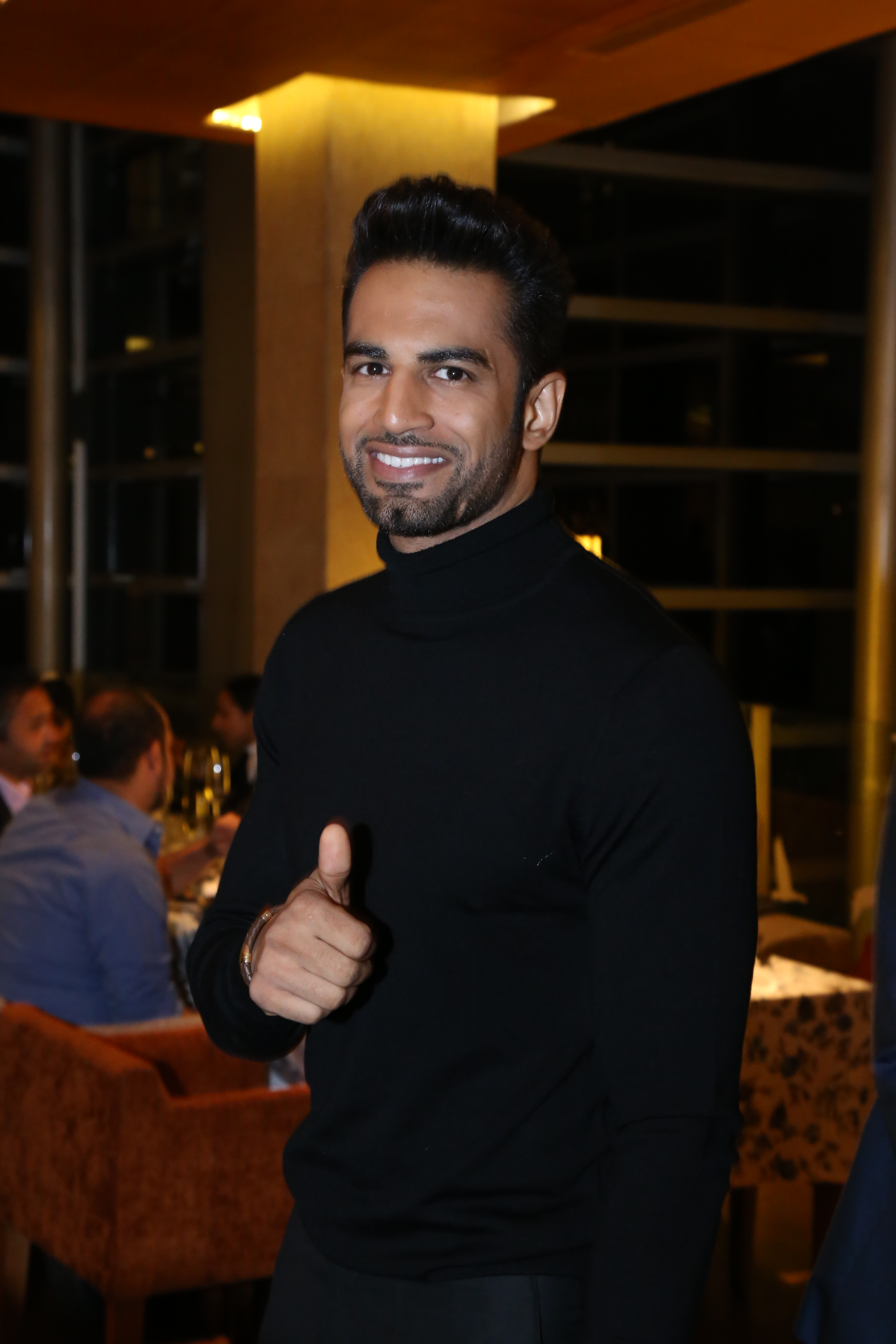 Actor Upen patel spotted at the dinner of A Taste of Heaven at Four seasons