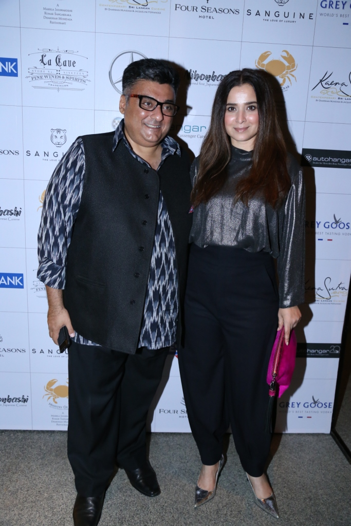 Actress Simone Singh at the dinner of A Taste of Heaven at Four seasons