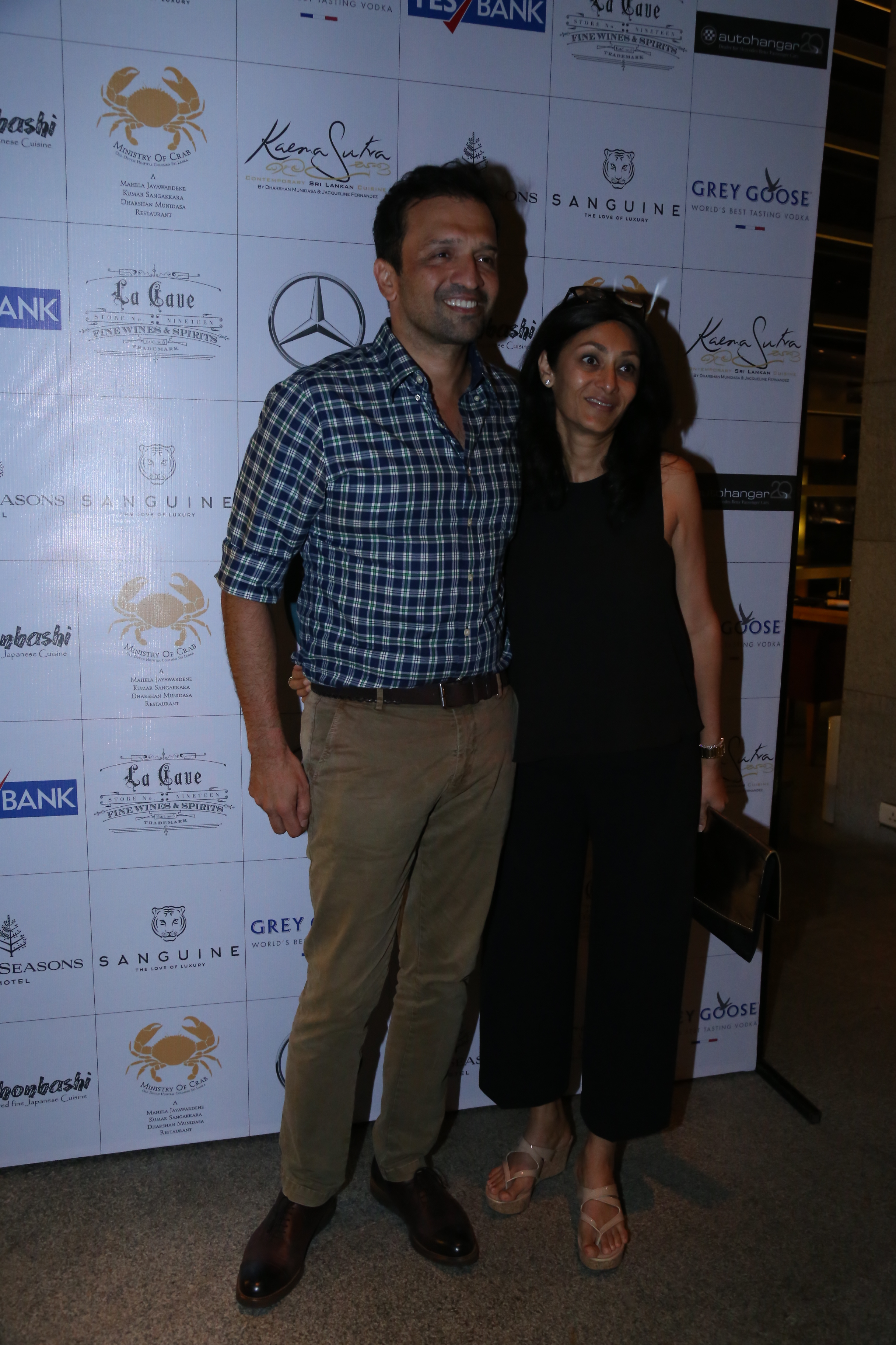 Atul Kasbekar and his wife at the dinner of A Taste of Heaven at Four seasons