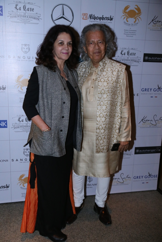 Columnist Anil Dharker and his wife spotted at the dinner of A Taste of Heaven at Four seasons