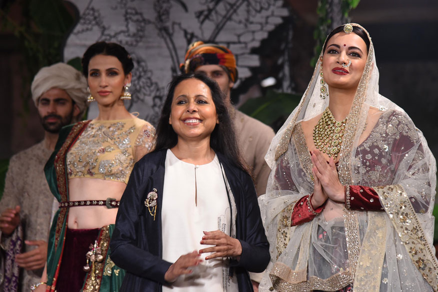 Dia Mirza, Fdci, Indian Couture Week, Anju Modi,