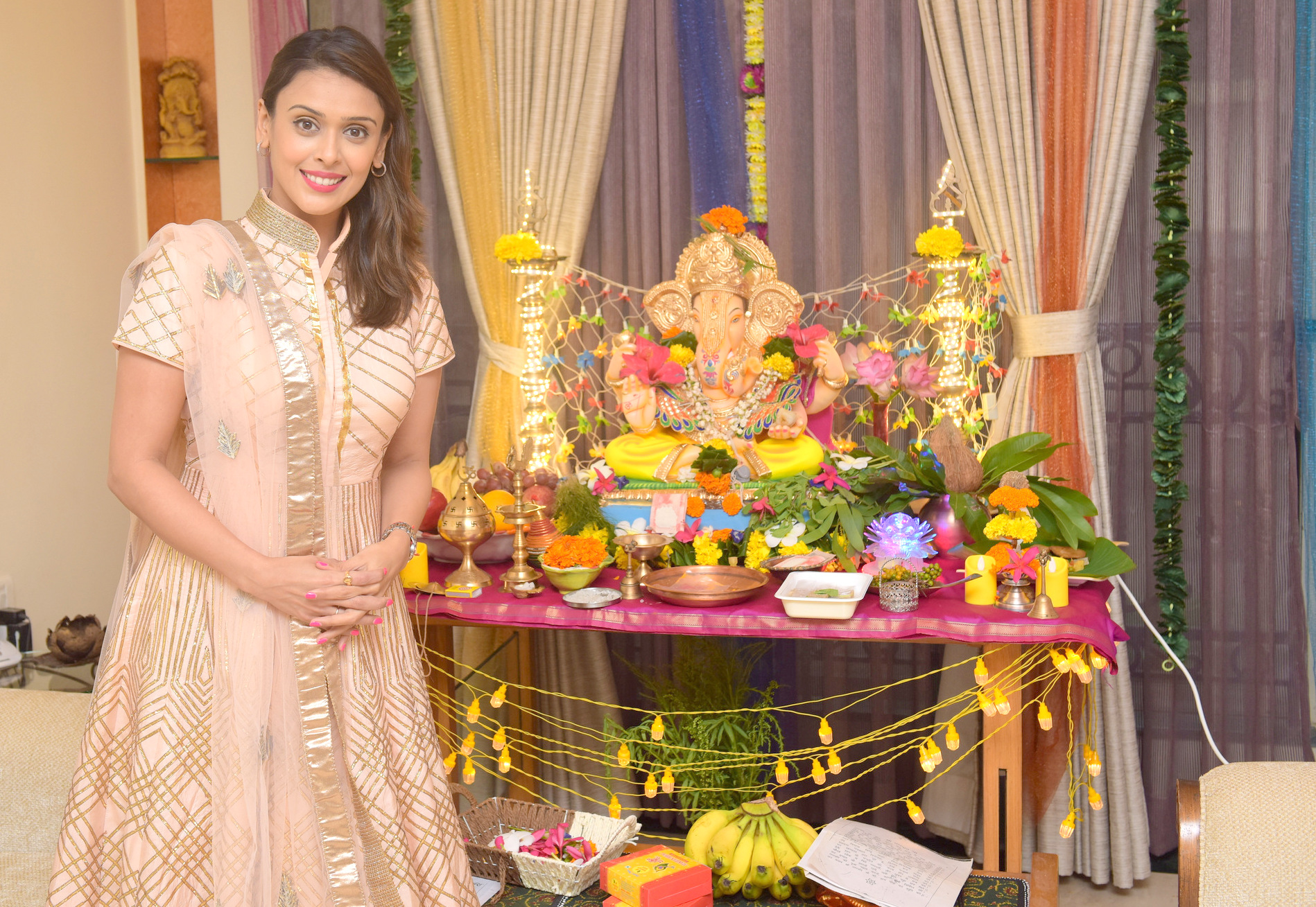 Hrishitaa Bhatt, celebrated, GANESH CHATURTHI,