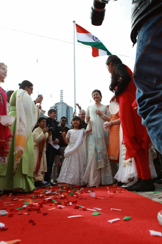 Aaradhya and Aishwarya Rai Bachchan at IFFM 2017 flag hoisting ceremony