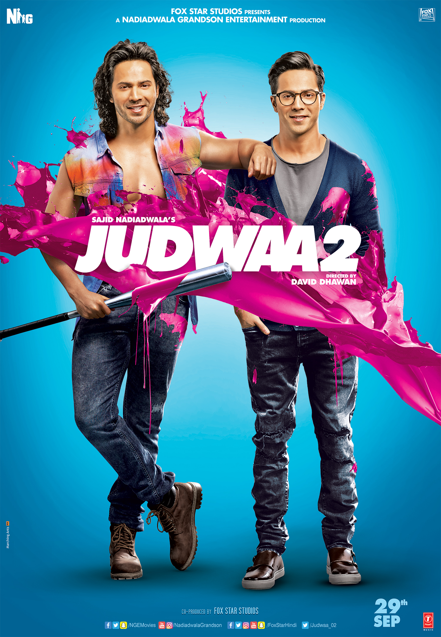 100 pairs, real Judwaas, launch. trailer, Judwaa 2, Varun dhawan, Tapsee pannu. Jacqueline Fernandez