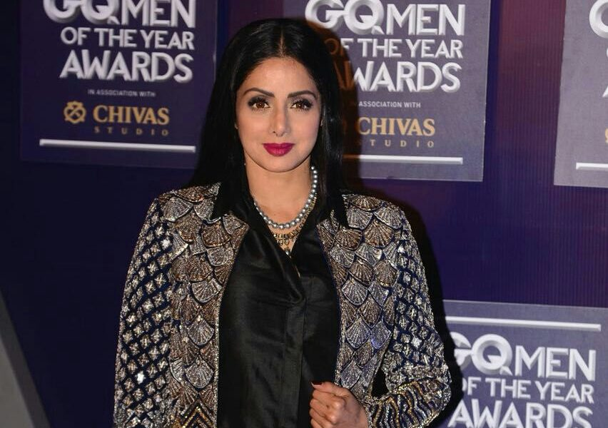 Sridevi, Excellence in Acting award, GQ Men of the Year awards