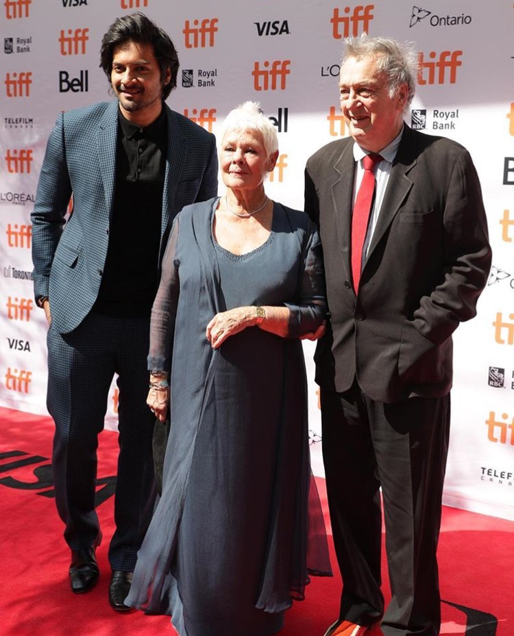 Ali Fazal Judi Dench and Stephen Frears