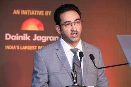 Mr. Basant Rathore speaking at the Jagran Cinema Summit