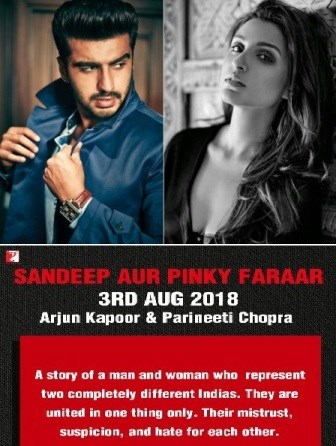 Do you know the release date of Arjun KApoor, Parineeti upcoming!