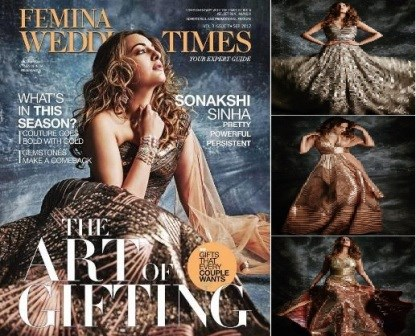 Checkout, Sonakshi Sinha, shoot, Femina Wedding Times
