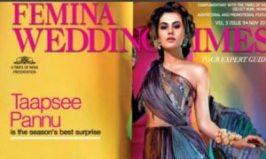 Taapsee Pannu, cover, Femina, Wedding, Diwali