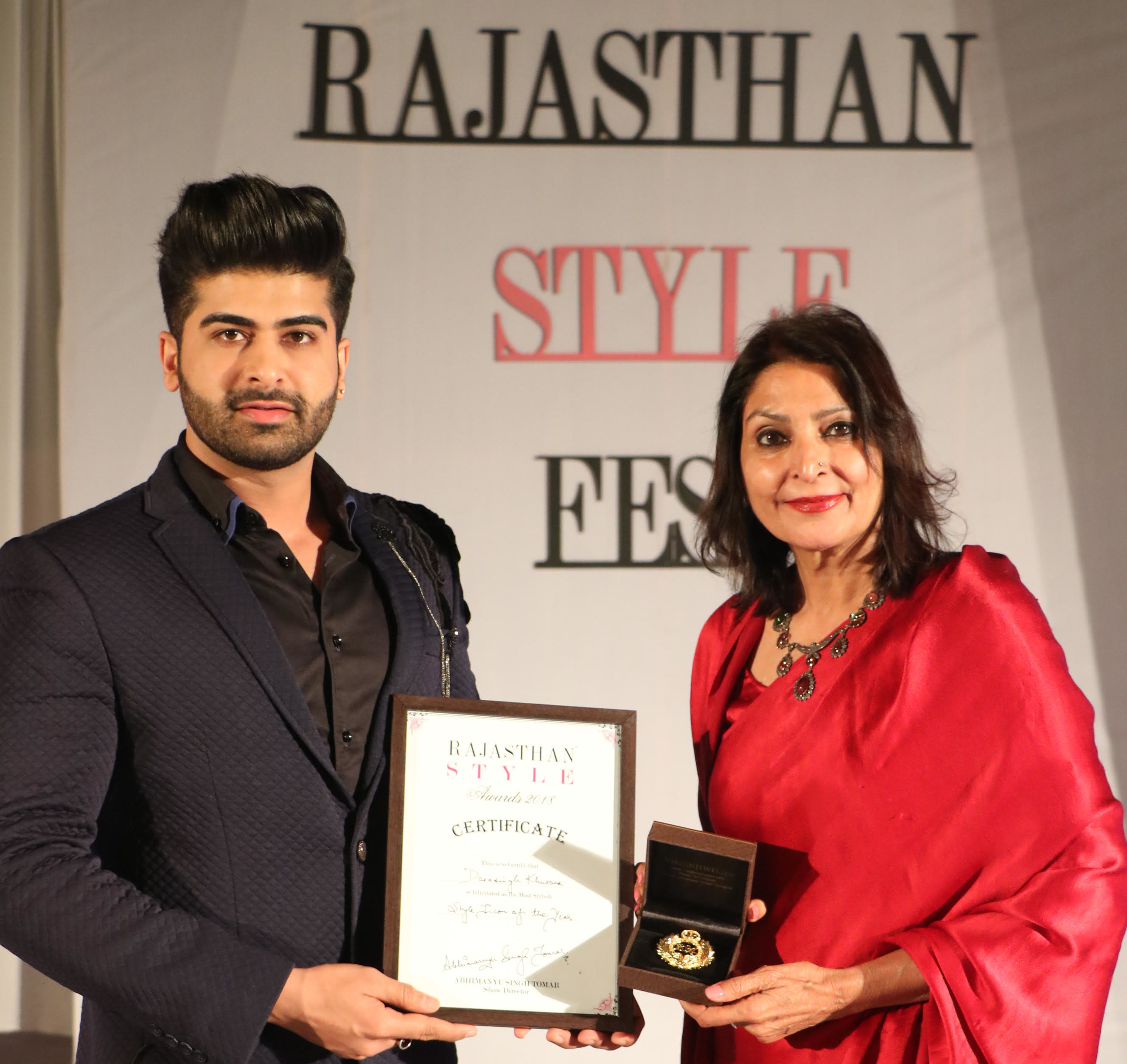 Rajasthan Style Awards, Darasing Khurana, Style Icon of the Year Award,