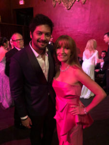 Ali Fazal with Bond Girl Jane seymour