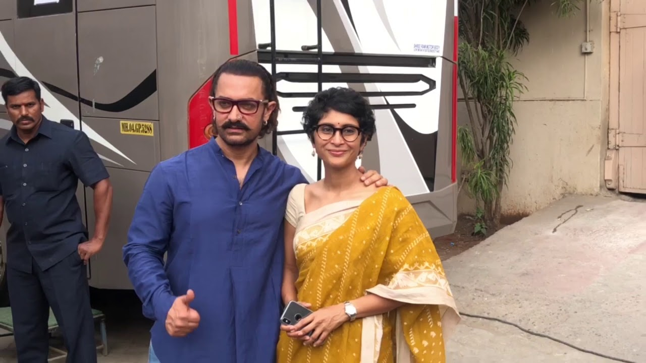 spotted aamir khan and wife at m
