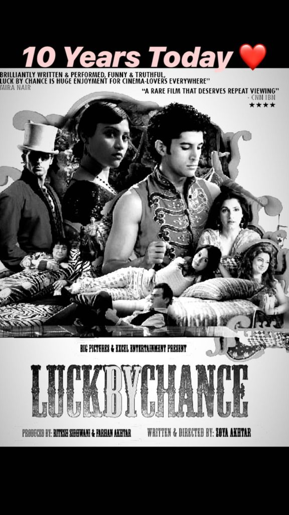 Zoya Akhtar, directorial debut, Luck By Chance