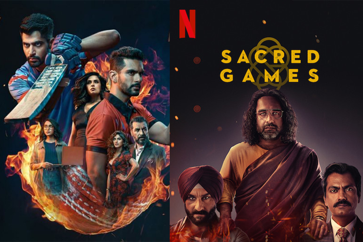Indian webseries,Four More Shots Please, Sacred Games, Inside Edge