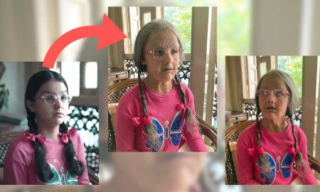 Preetisheel Singh transforms 10 year old girl into a 90 year old. Pic 1.