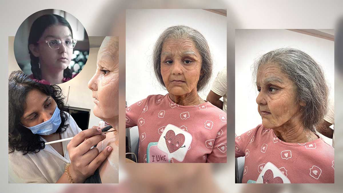 Preetisheel Singh transforms 10 year old girl into a 90 year old. Pic 3.