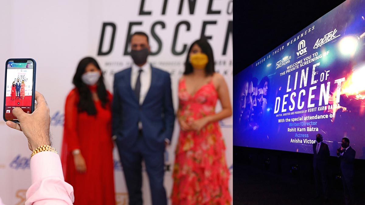 Anisha Victor with writer director Rohit Karn Batra at the Line of Descent premiere in Dubai Pic 6